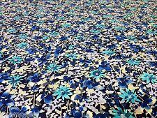 Baumwolle Stoff Patchwork Bekleidung Vorhang DEKO Bastel blau Meterware Am Stück
