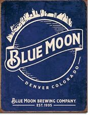 Blue Moon Brewing Skyline TIN SIGN metal poster vintage beer bar wall decor 2140