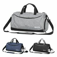 Men Gym Bag Fitness Duffle Women Travel Sports Luggage Carry-on Shoulder Tote