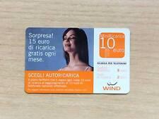 RICARICA TELEFONICA WIND - SCEGLI AUTORICARICA 15 EURO GRATISI OGNI MESE - 10 €
