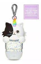 Bath & Body Works 2 Way Light Up KITTY CAT CATICORN UNICORN Holder Keychain  NEW