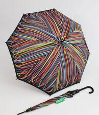 BENETTON  bunter Regenschirm Stockschirm  auf - automatik Damen Herren gestreift