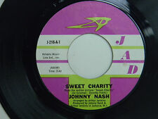 Johnny Nash 45 SWEET CHARITY / PEOPLE IN LOVE ~ JAD Records VG+