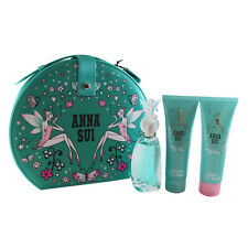 SECRET WISH by Anna Sui GIFT SET  EDT SPRAY 1.7 oz + B/L 3 oz +S/G 3 oz ) Womens