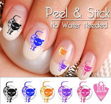 Colorful Angry Cats Nail Decal Sticker Set CAT903