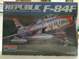 2000 MONOGRAM #85-5437 REPUBLIC F-84F - 1/48 SCALE KIT - NEW, FACTORY SEALED