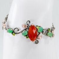 Jewelry For Women 8ct Natural Carnelian 925 Sterling Silver Bracelet/BR01037