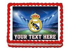 Soccer Real Madrid party edible cake image cake topper frosting sheet decoration