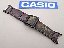 Genuine Casio Pathfinder Hunting Timer PAS-410B watch band  brown leather fabric