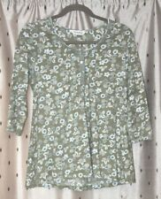 Nomads ~ Organic Cotton Green Floral Top ~ Size 8