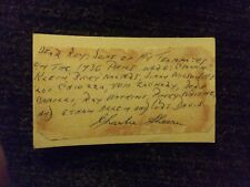 Charlie Sheerin Autographed Memo