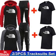 Men's Tracksuits Set Hoodie Sweatshirts Joggers Pants T-Shirts Bottoms 2/3PCS UK