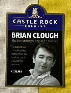 BRIAN CLOUGH - CASTLE ROCK BREWERY - BEER PUMP CLIP - VGC