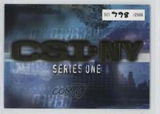 2005 Strictly Ink CSI: New York Series 1 #NoN Header /2500 Non-Sports Card d8k