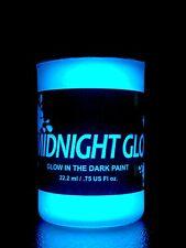 Glow in The Dark Paint, Aqua 0.75 fl oz, Made in USA, Long Lasting Glow