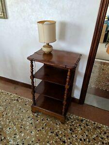 Comodino in stile Liberty mobili legno camera da letto.