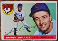 1955 Topps Baseball Card, #76 Howie Pollet, Chicago  Cubs - VG
