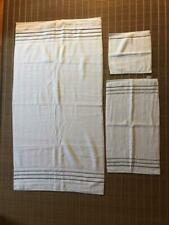 "Hotel Collection 100% Cotton Bordeline ""Set Of 3"" Washcloth, Hand & Bath Towels"
