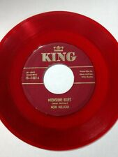 Moon Mullican Red Wax 45 Rockabilly King 1007 Moonshine Blues / Country Boogie