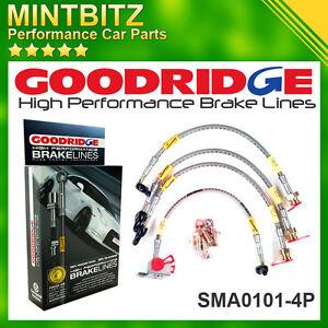 Mazda MX5 MkI 04/1990 - 04/1998 Zinc Plated Goodridge Brake Hoses SMA0101-4P