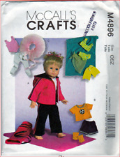"McCall's M4896 Doll Clothes Pattern for 18"" Dolls"