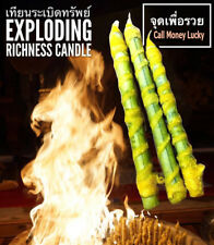 Exploding Richness Candle LP Phra Arjarn O Thai Amulet call money luck Wealth
