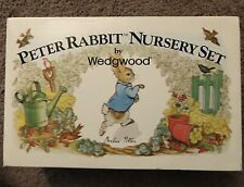Beatrix Potter Peter Rabbit Wedgwood 3 Pc Child's Nursery Set Cup Plate Bowl NEW