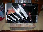 Kuchenstolz Precision Cutlery- 6 Pc Knife Set, Sharpener w/ Cutting Board - New