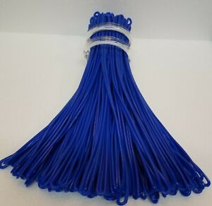 Blue Extra-Long Luggage Tag worm loops 9 inch 100 per bag