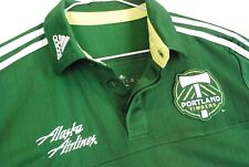 Portland Timbers Soccer Jersey Alaska Airlines Polo Green Mens Medium Adidas