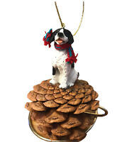 Pointer Pinecone Ornament Black And White Dog Gift New