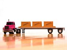 """Penjoy """"Penjoy Express"""" Mack CH 600 w/Flatbed Trailer & Wood Crate Load 1:64"""