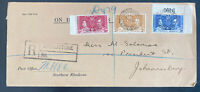 1937 Livingston Northern Rhodesia First Day Cover FDC King George VI Coronation