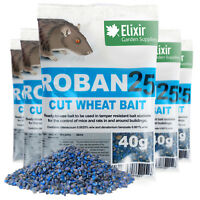 ELIXIR GARDENS, 3 x 40G ROBAN25 RAT/MOUSE KILLER / POISON