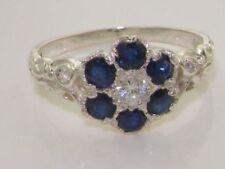 Sapphire Round Diamond Fine Rings
