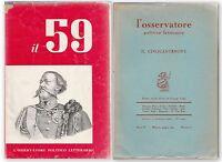 AA.VV. L'OSSERVATORE POLITICO LETTERARIO Il Cinquantanove Giugno 1959 n. 6