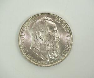 Silber Münze Drei Mark Deutsches Reich 1911 D Luitpold Prinzregent von Bayern