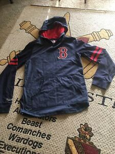 Mitchell & Ness BOSTON RED SOX BASEBALL LONG SLEEVE HOODIE MED 10/12 NWOT