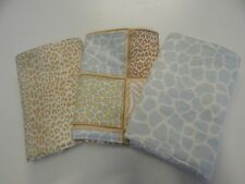 Jungle Animal Print in Blues Burp Cloths x 3 Toweling Backed GREAT GIFT IDEA!!