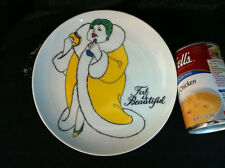 Fat Is Beautiful Collectors Plate Fitz And Floyd Lady With Hamburger