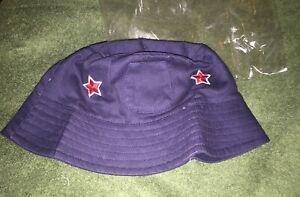 New~ Toddler Boys Size Size 4~Navy Blue / Red Stars~ Bucket Sun Hat
