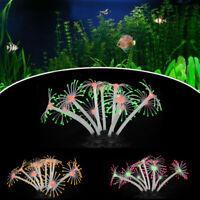 Aquarium Fish Tank Landscaping Decor Silicone Simulation Coral Plant  UK UK