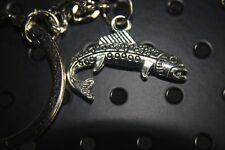 FISH FISHING KEYCHAIN Rainbow trout salmon Fisherman Full Metal  Key chain USA