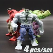 "4pcs 5"" Marvel Avengers Hero The Grey Red Hulk Action Statue Figure Collection"
