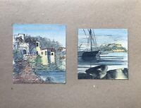 Georg Schott 1906 Città Costiere Case Mediterraneo Barche a Vela Capri Amalfi?