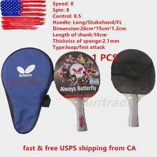 NEW Butterfly TBC401 Table Tennis Ping Pong Racket Paddle Bat Blade FL US