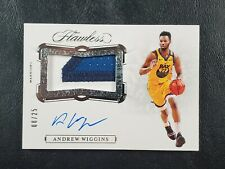 2019-20 Panini Flawless Andrew Wiggins Horizontal GU 3CLR Patch AUTO 8/25! 🔥MF