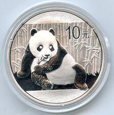 China 2015 Proof Silver Panda - 10 Yuan Coin - 1 oz Chinese Bullion - AQ901