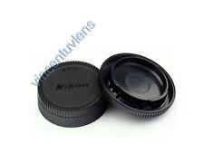 Camera Body Cap & Rear Lens Cap Cover for Nikon D3100 D3200 D3300 D5500 D7000