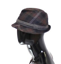 NWT $280 DOLCE & GABBANA Multicolor Wool Logo Fedora Trilby Hat Cappelo s. 58/M